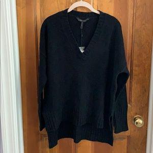 NWT BCBGMAXAZRIA Small Black Reimann VNeck sweater